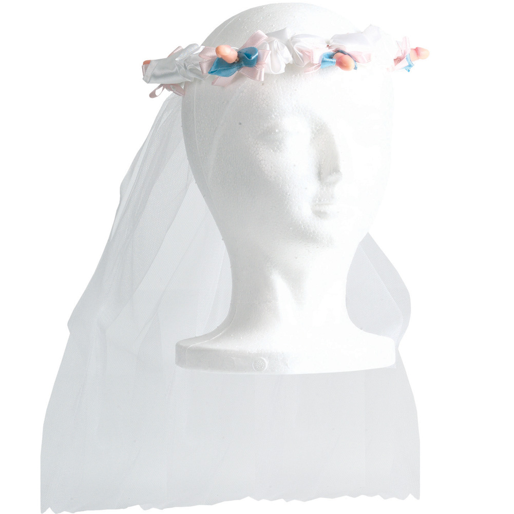 Bachelorette Party Tiara with Veil - View #2