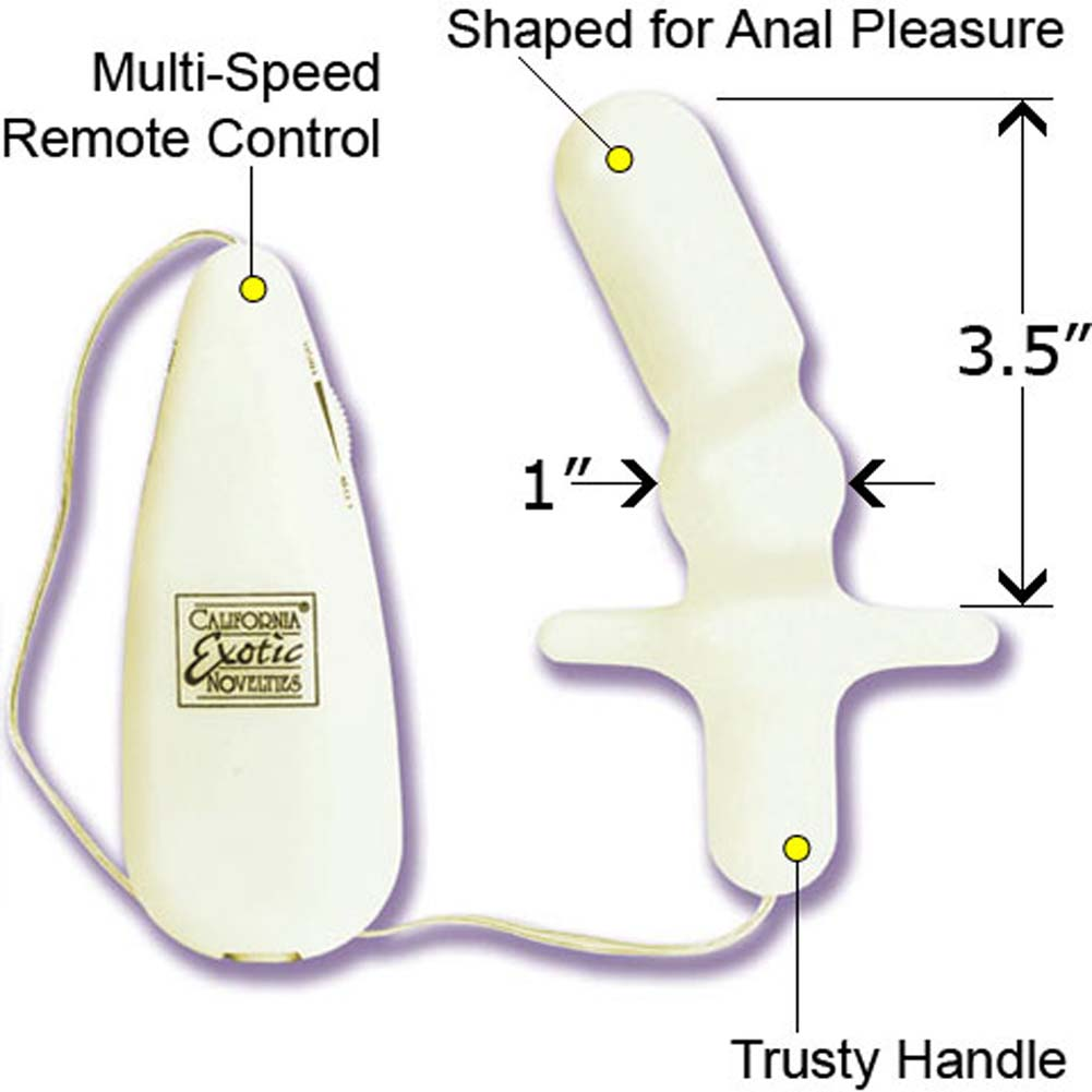 "Shanes World Glow in the Dark Vibro Anal T Probe 3.25"" - View #1"