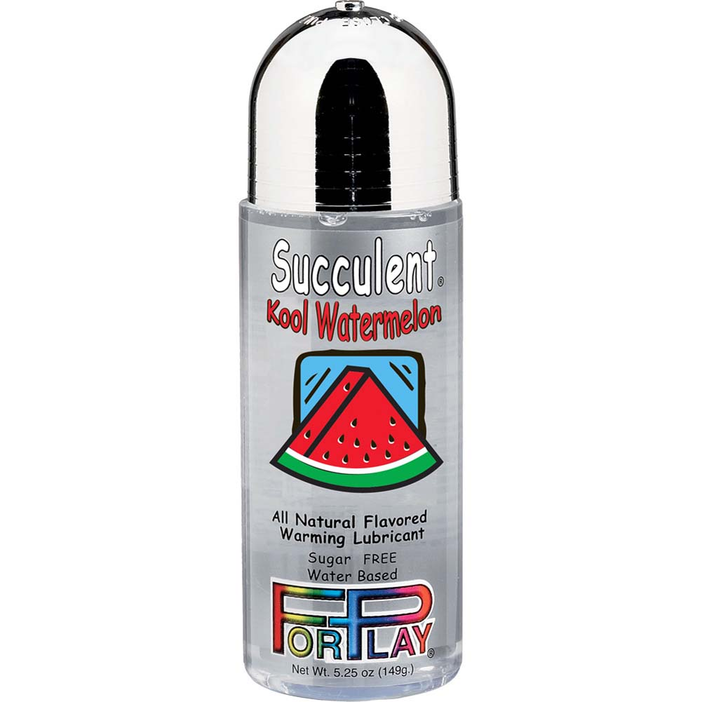 ForPlay Succulents All Natural Flavored Warming Lubricant 5.25 Fl.Oz Kool Watermelon - View #1