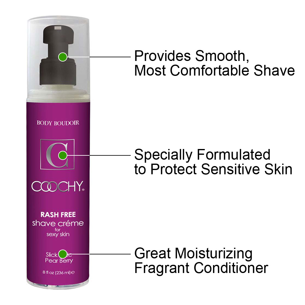 Coochy Rash Free Shave Creme Slick Chic Pear Berry 8 Fl. Oz. - View #1