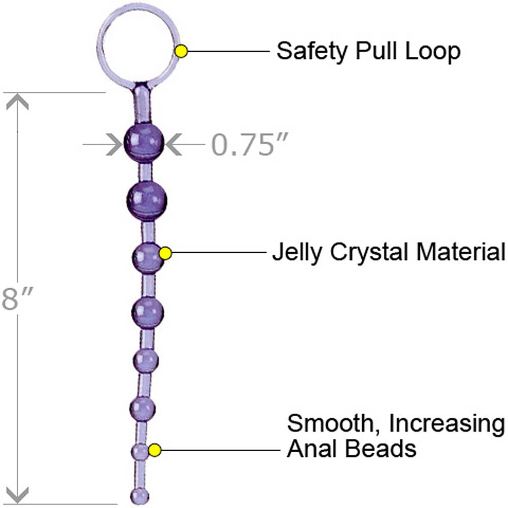 "ShaneS World Anal 101 Intro Jelly Beads 8"" Purple - View #1"