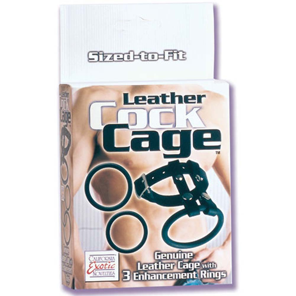 Leather Cock Cage - View #1