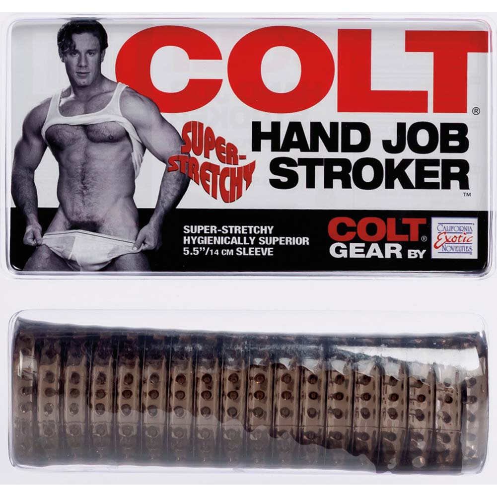 California Exotics COLT Hand Job Stroker Silicone Male Masturbator Smoke - View #1