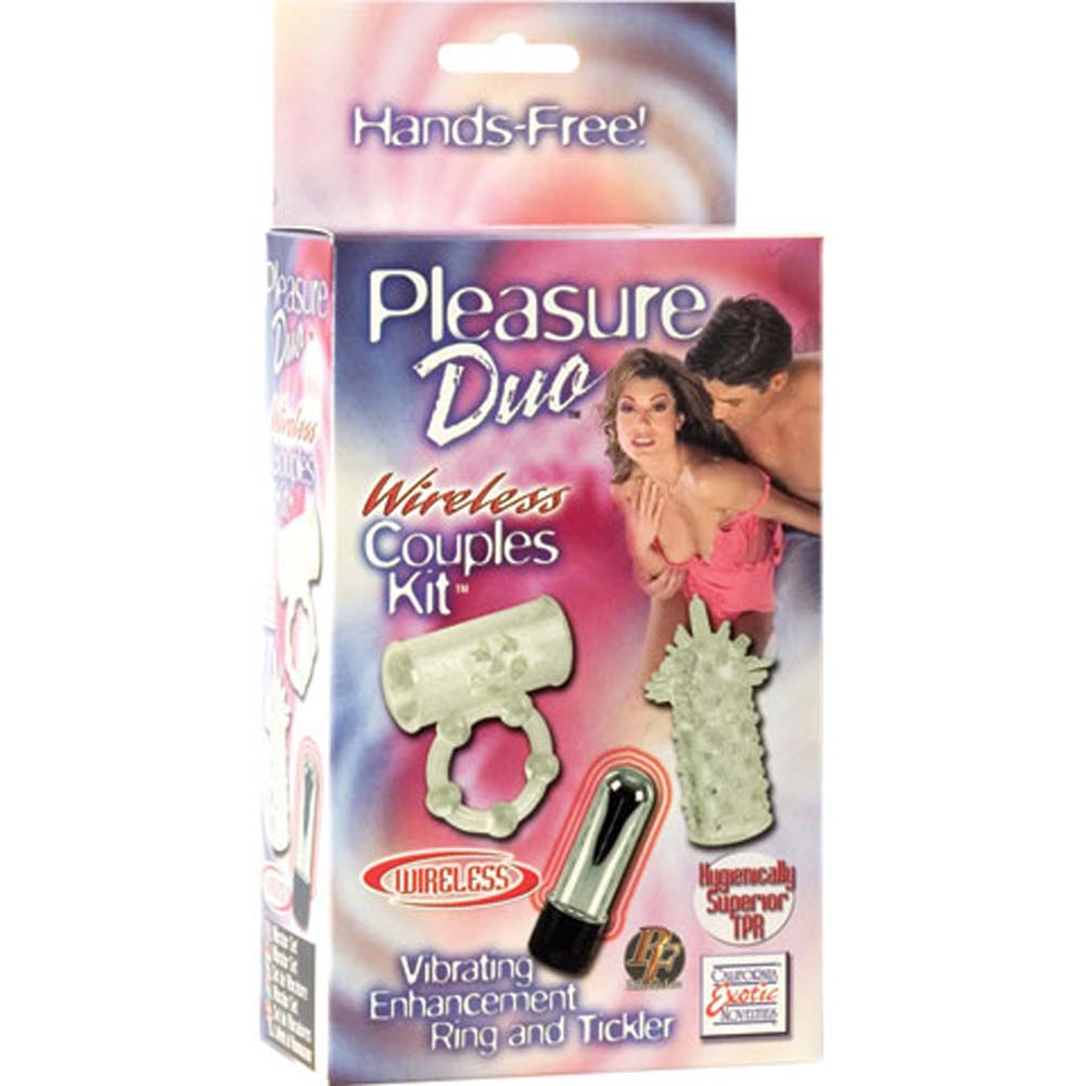California Exotics Pleasure Duo Cordless Couples Kit with Vibrating Ring Clear - View #4