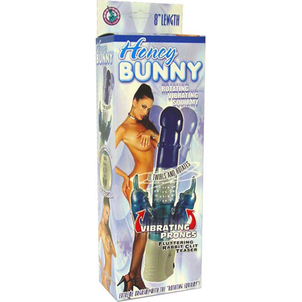 "Honey Bunny Rotating Vibrating Jelly Squirmy 10.5"" Blue - View #4"