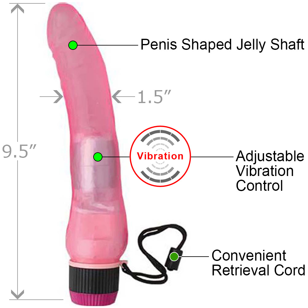 "Jelly Caribbean No. 1 Waterproof Vibe 9.5"" Pink - View #1"
