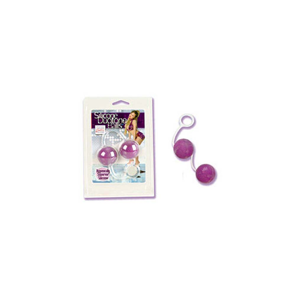 "Silicone Duotone Balls Purple 1.5"" in Diameter - View #2"