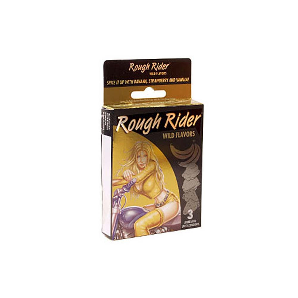 Rough Rider Wild Flavors Condoms 3 Pk. - View #1