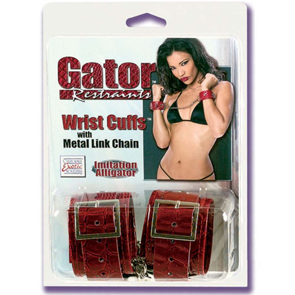 Gator Restraints Wrist Cuffs with Metal Link Chain - View #1
