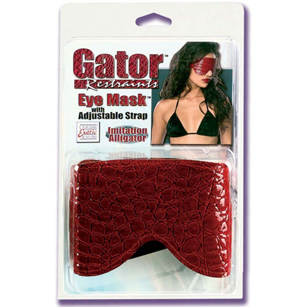 Gator Restraints Eye Mask with Adjustable Strap Red - View #1