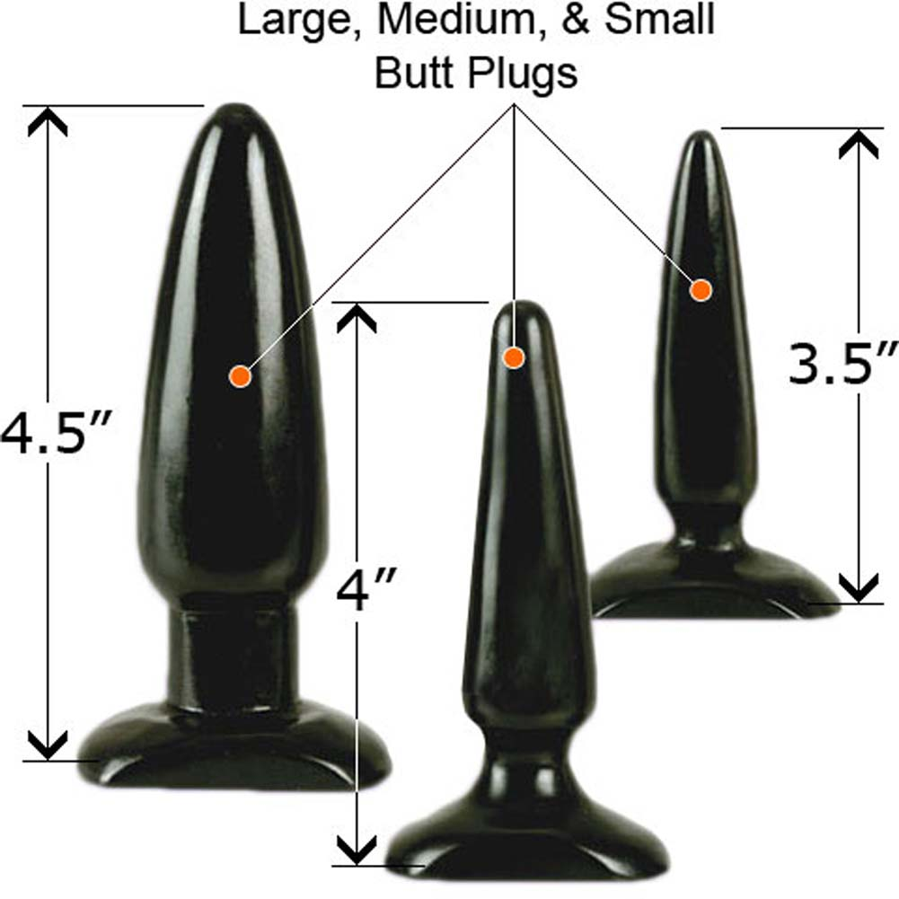 "Colt Anal Trainer Kit with 3 Butt Plug 3.5 to 4.5"" RbDV - View #1"