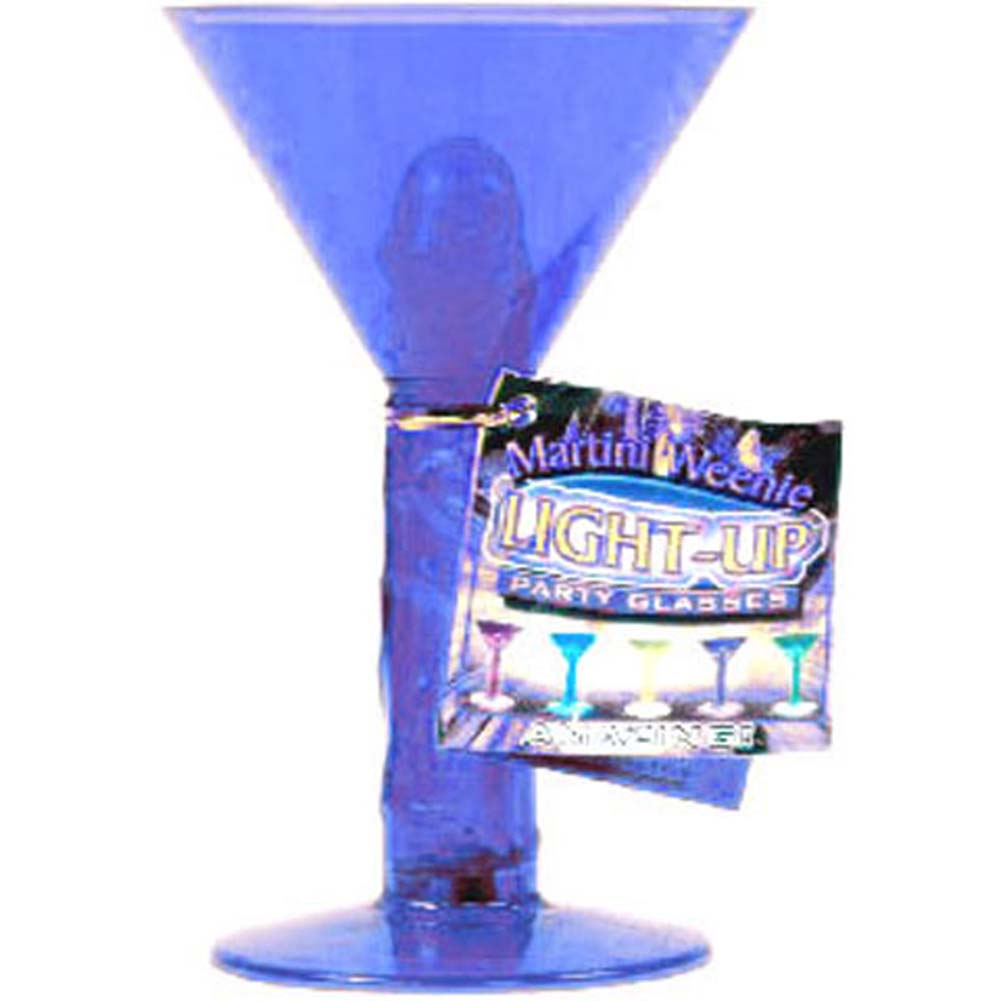 Martini Weenie Light Up Party Glass Blue - View #1