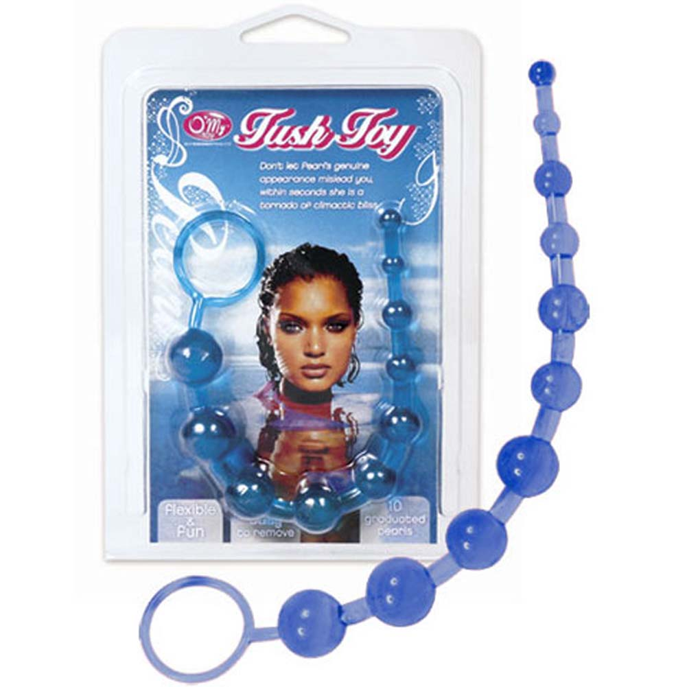 """O/My Pearl Tush Toy Blue 10"""" - View #1"""