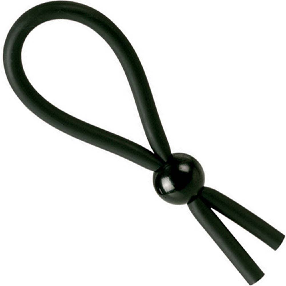 Dr. Joel Kaplan Erection Enhancing Rubber Lasso Ring Black. - View #1