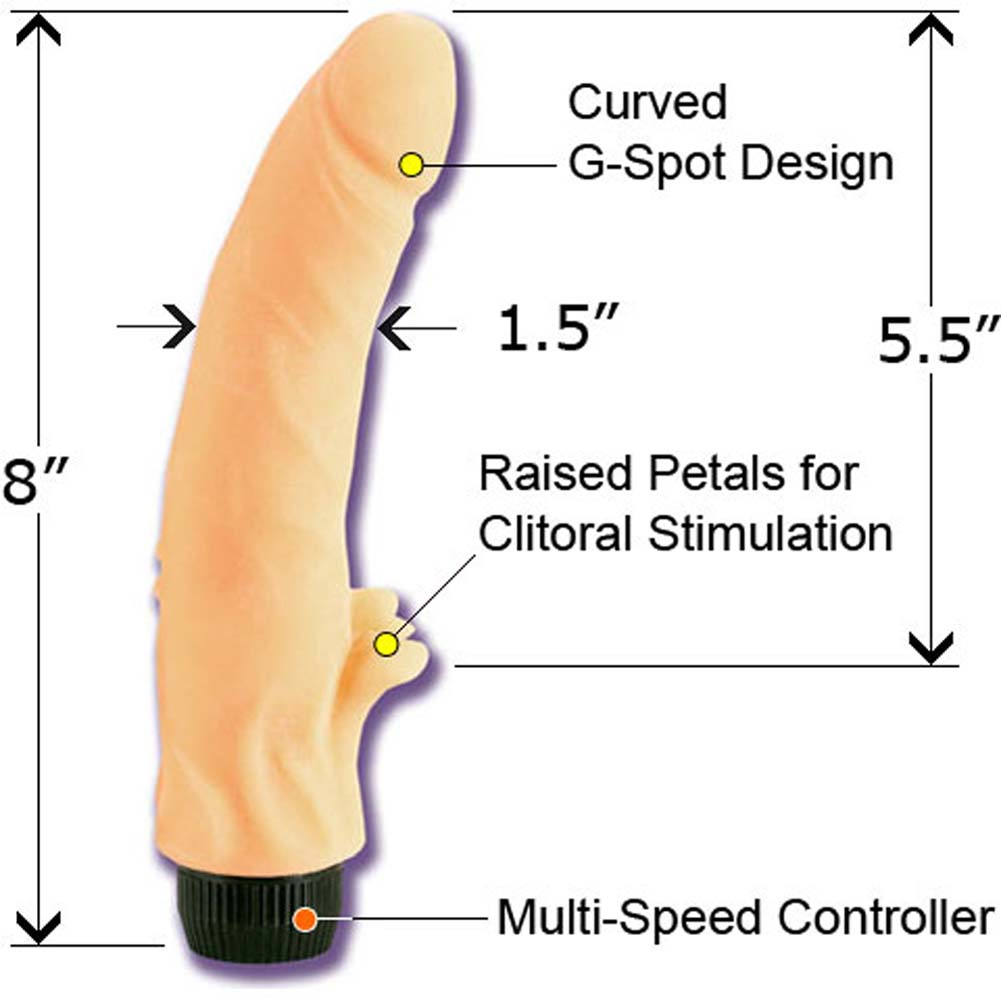 "Wicked Jessica Drake Clitterific Vibrator 8"" Natural - View #2"
