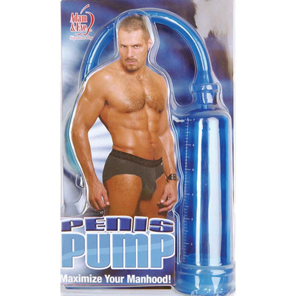 "Adam and Eve Penis Pump 7"" Blue - View #1"
