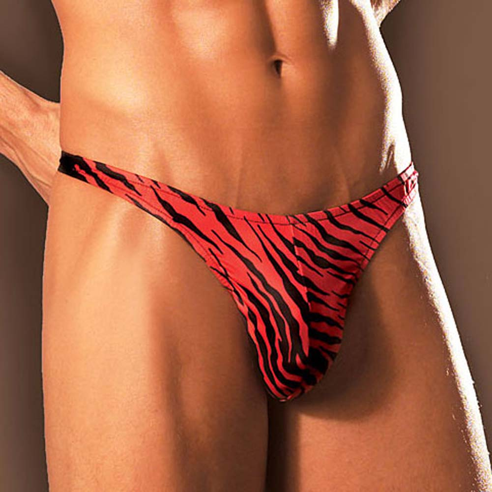 Red Tiger Thong - View #2
