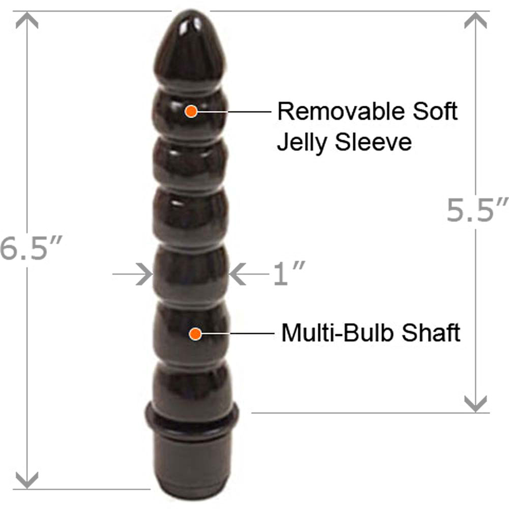 "Tushy Waterproof Vibrating Jelly Teaser 6.5"" Black - View #1"