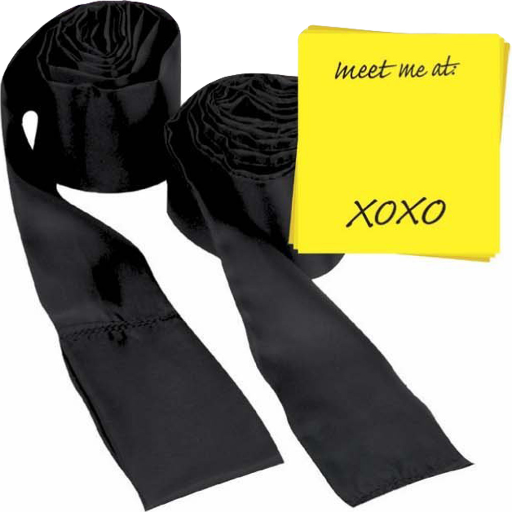 Sportsheets Flirt Office Fling Kit with Silk Ties Black - View #2