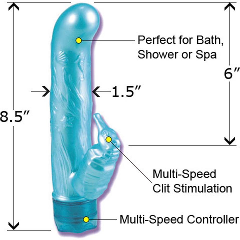 "Waterproof Action Packed G-Spot Pearl Vibe 8.5"" Blue - View #1"