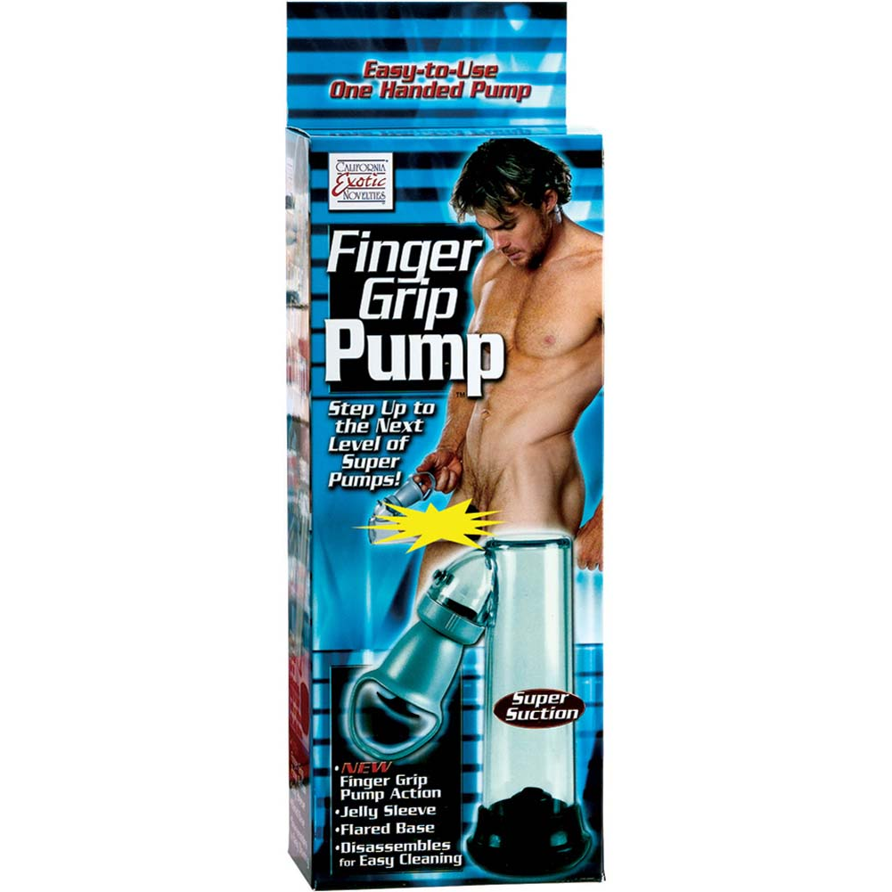 "Finger Grip Jelly Penis Pump 8.5"" - View #1"