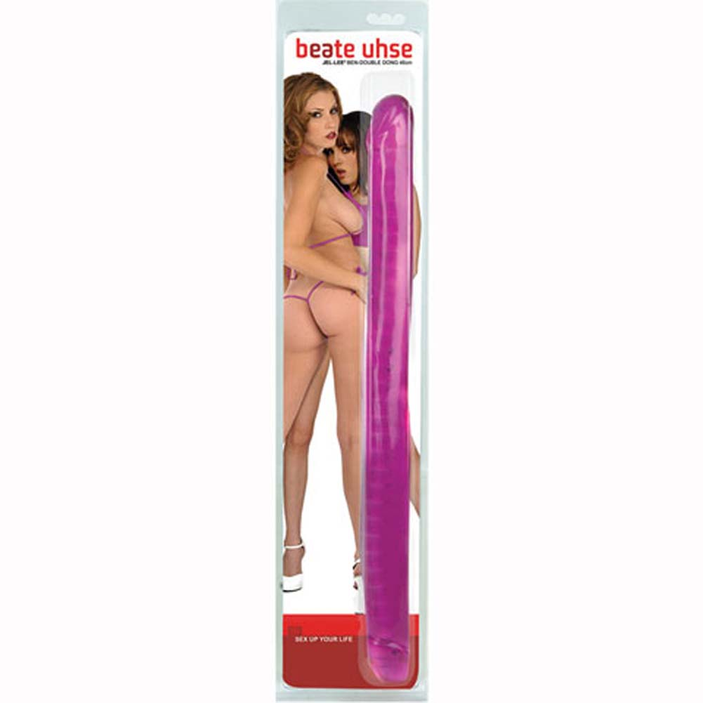 Beate Uhse JelLee Ben Double Dong with Armature 17.5 In. - View #1