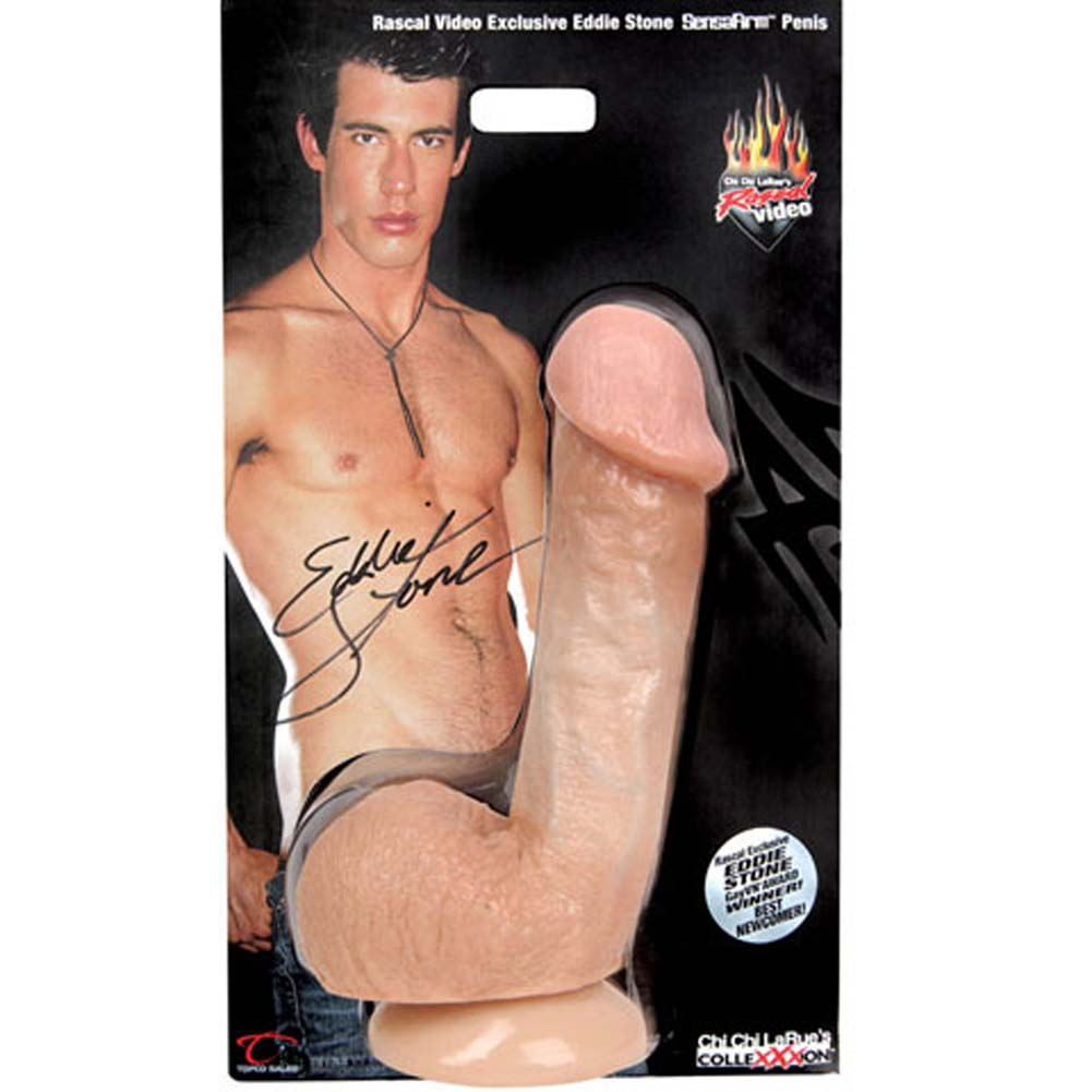 "Rascal Toys Eddie Stone Cock with Suction Cup 7"" Natural - View #2"
