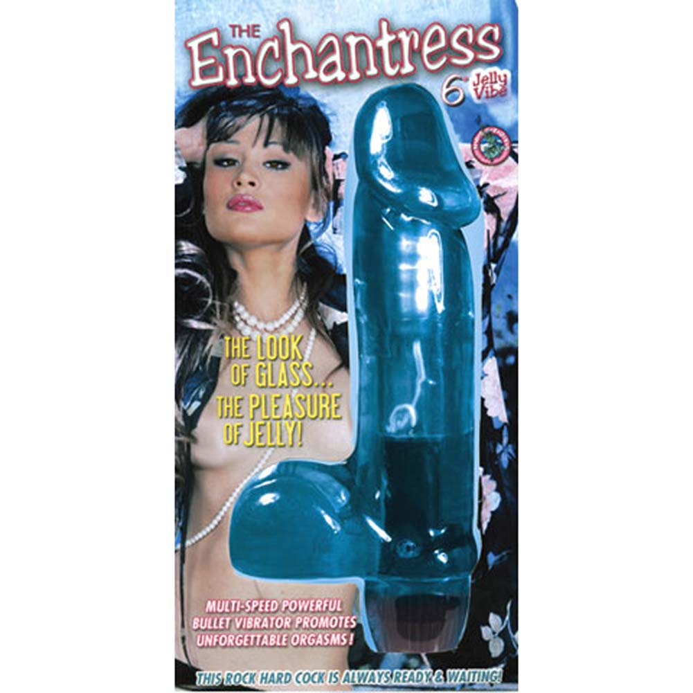 Enchantress Jelly Vibrator Blue 6 In. - View #1
