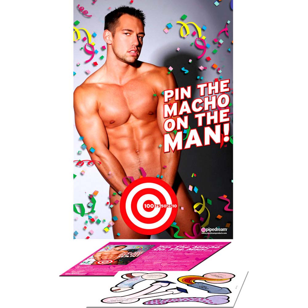 Party Favors Pin the Macho On the Man - View #2