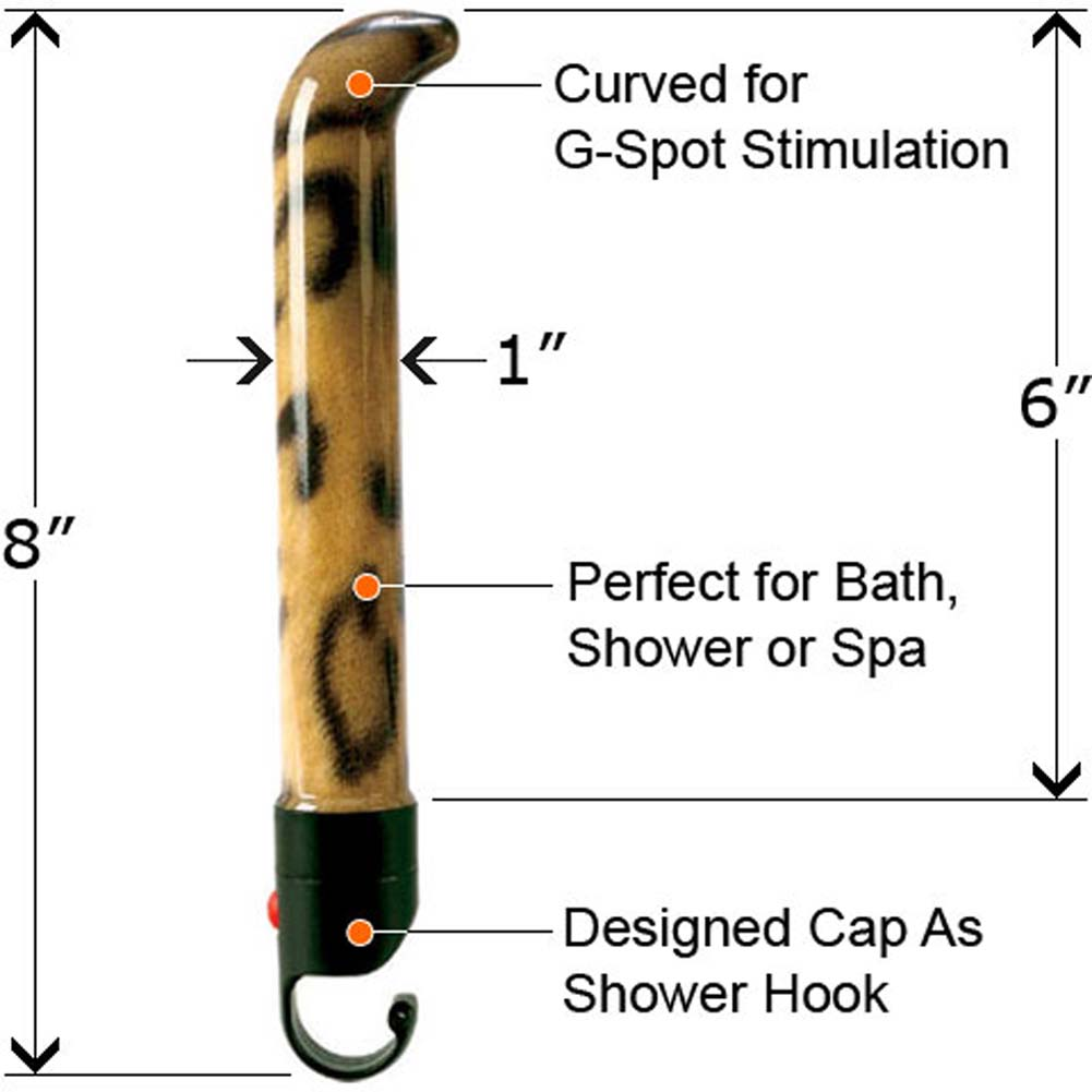 Waterproof Jungle G Cheetah Vibrator 6 In. - View #2