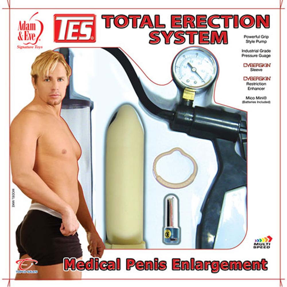 TES Total Erection System Penis Pump with Mini Vibe - View #4