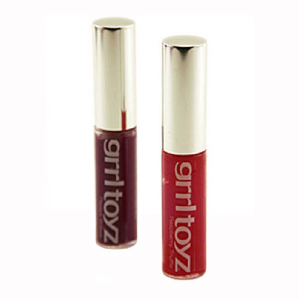 Grrl Toyz Slip Sticks Oral Enhancement Sex Gloss 2 Pc. - View #2