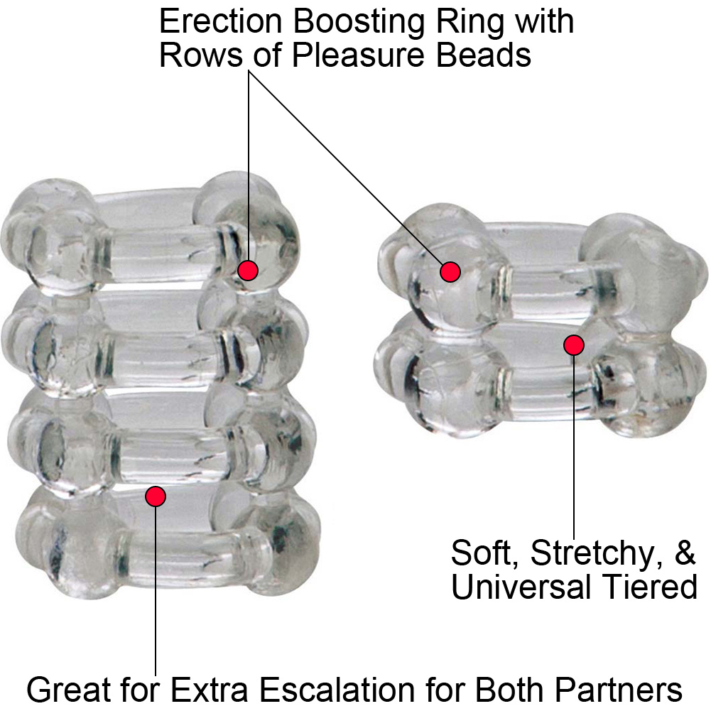 California Exotics COLT Enhancer Rings Pack of 2 Cock Rings Clear - View #1