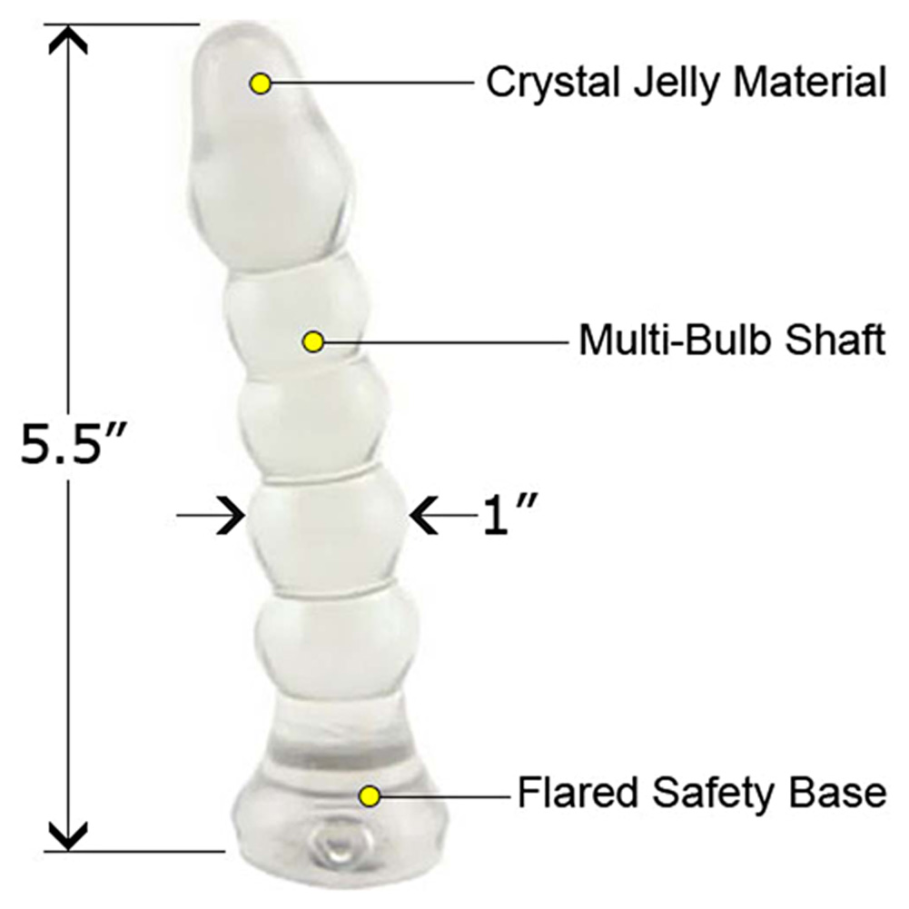 "Crystal Jellies Anal Plug 5.5"" Clear - View #1"