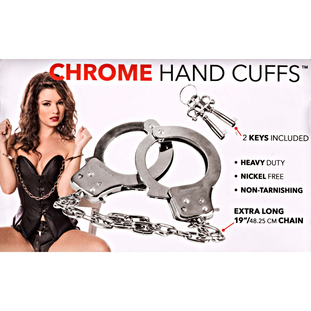 California Exotics Chrome Hand Cuffs with 2 Spare Keys - View #1