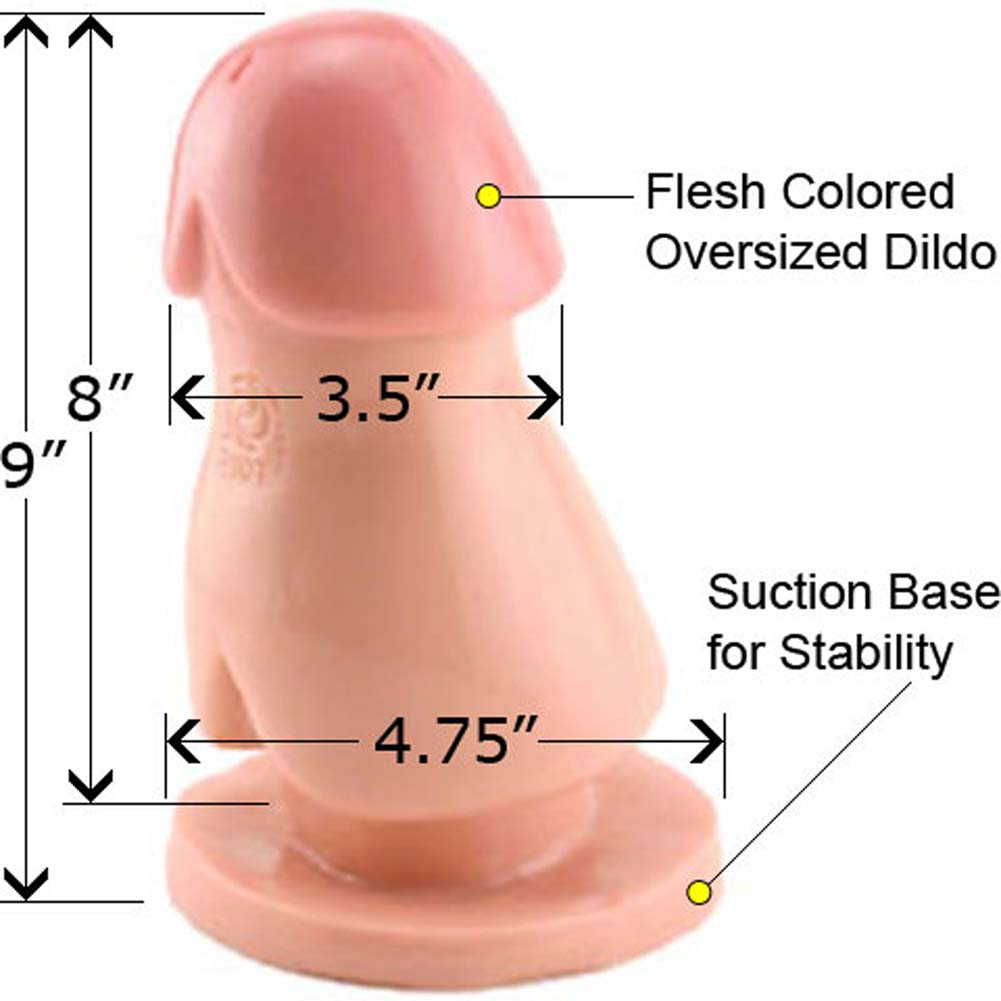 "Ream and Scream Oversized Dildo 9"" Natural - View #1"