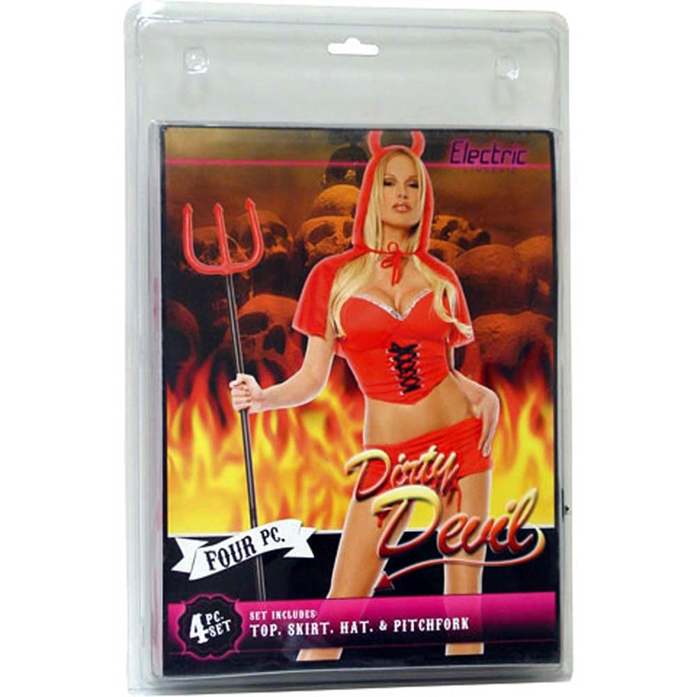 Dirty Devil 4 Piece Costume Set - View #1