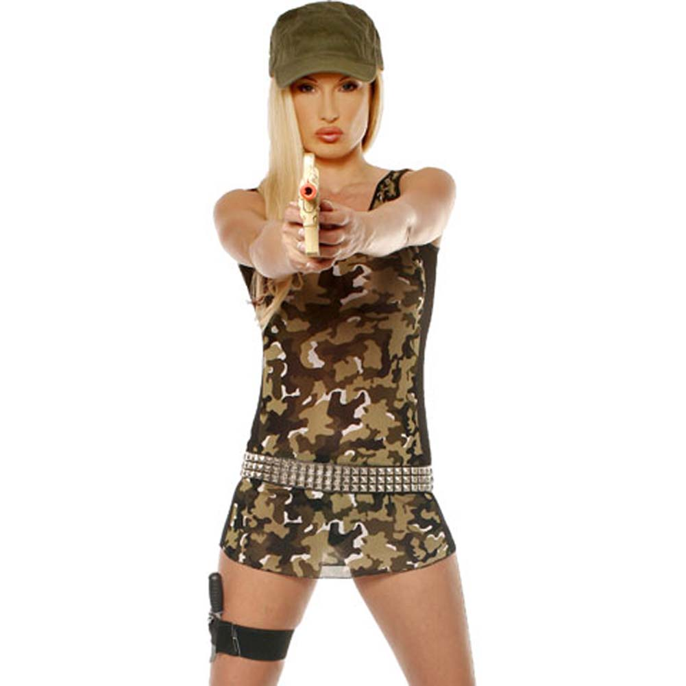 Commando Girl 4 Piece Costume Set - View #2