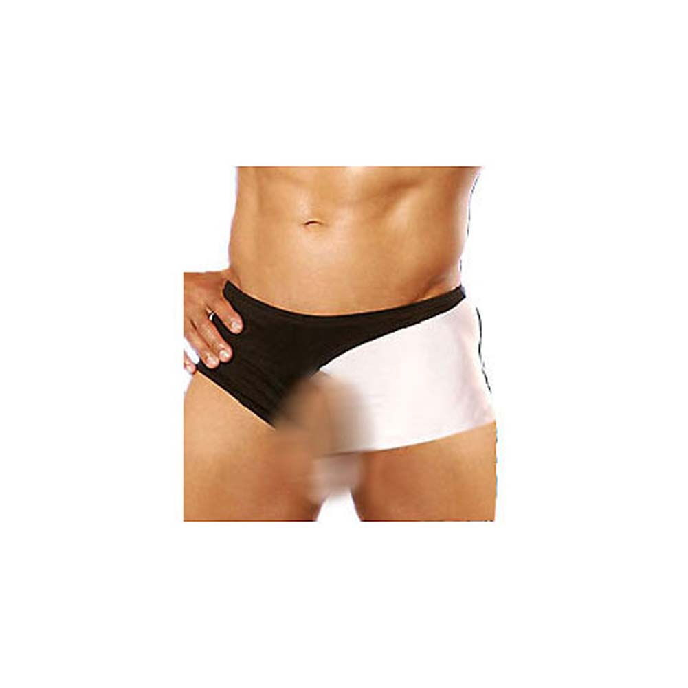 Turbo Twist Mens Panty White and Black - View #2