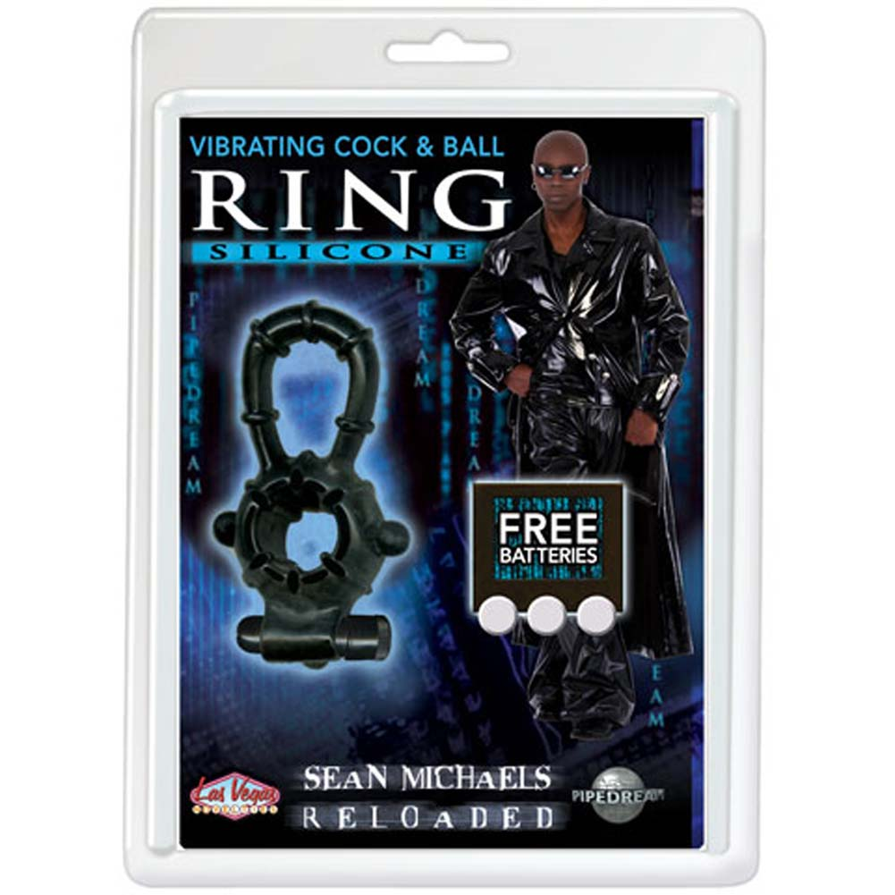 Sean Michaels Reloaded Silicone Vibrating Cock and Ball Ring - View #1