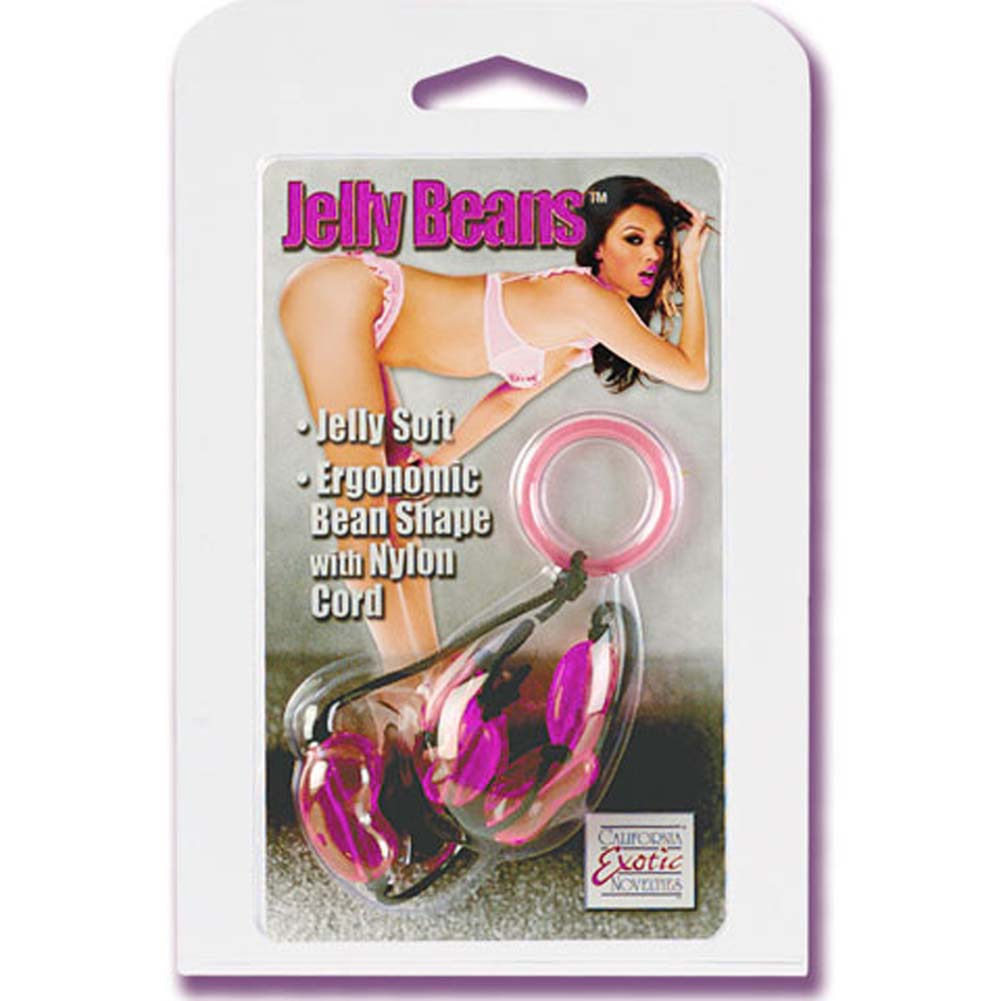 Jelly Beans Anal Beads with Nylon Cord Purple 11 In. - View #1