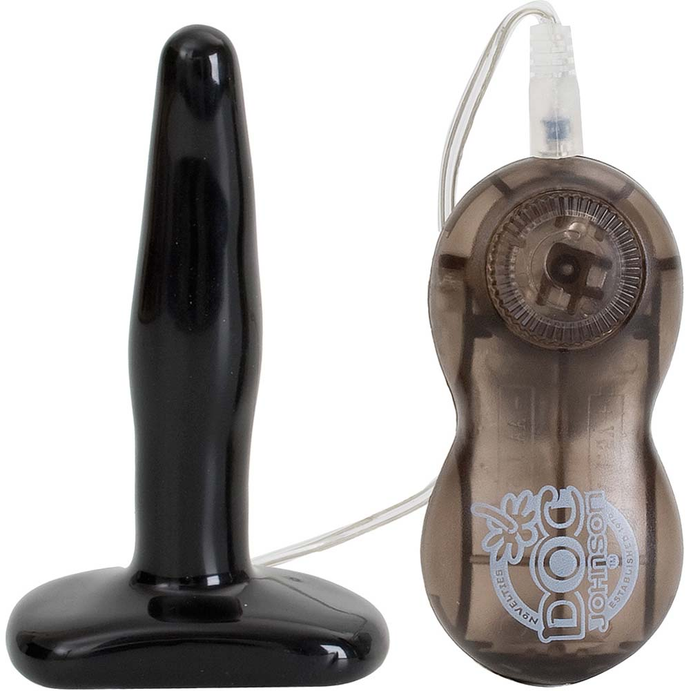 "Rump Shakers Small Vibrating Butt Plug 4.5"" Black - View #2"