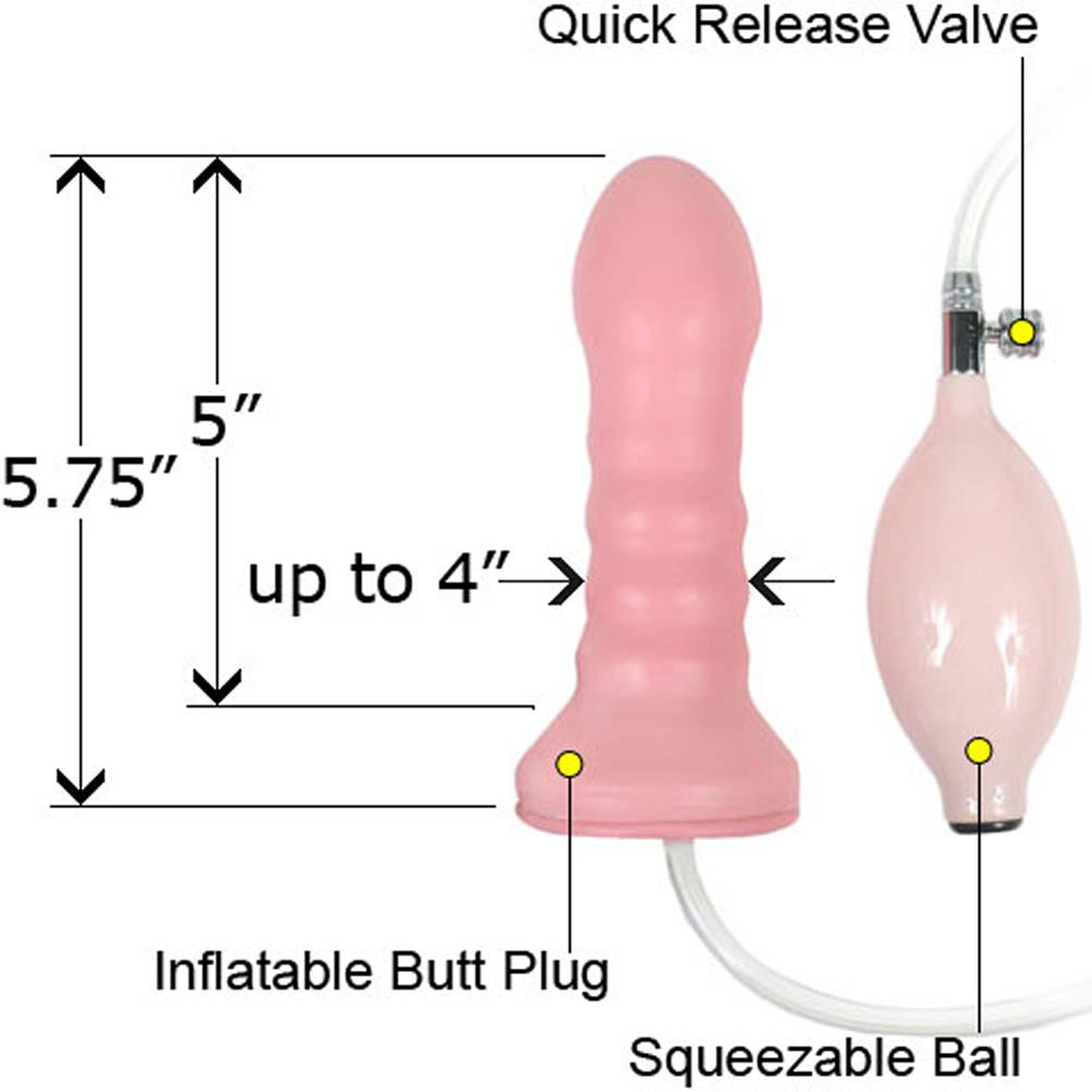 "Gapers Inflatable Penis Head Dong 5.75"" Pink - View #1"