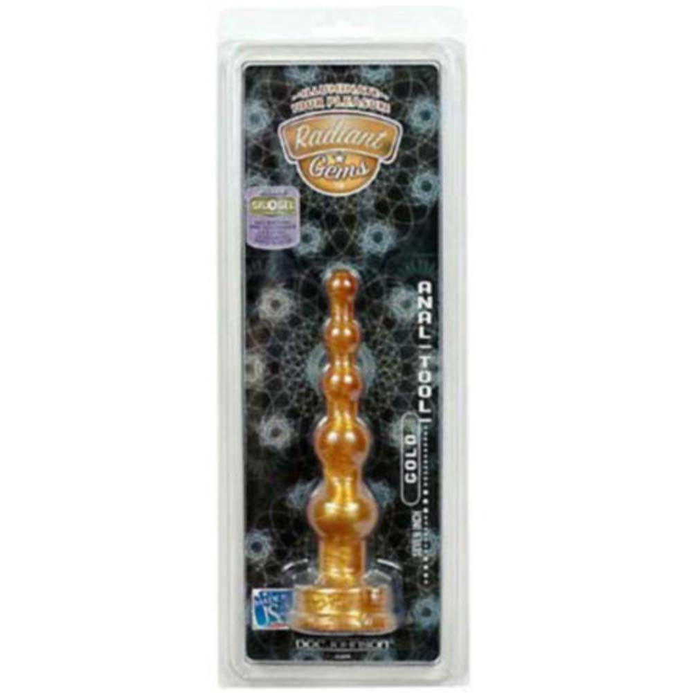 Radiant Gems Anal Tool Gold 6.75 In. - View #1