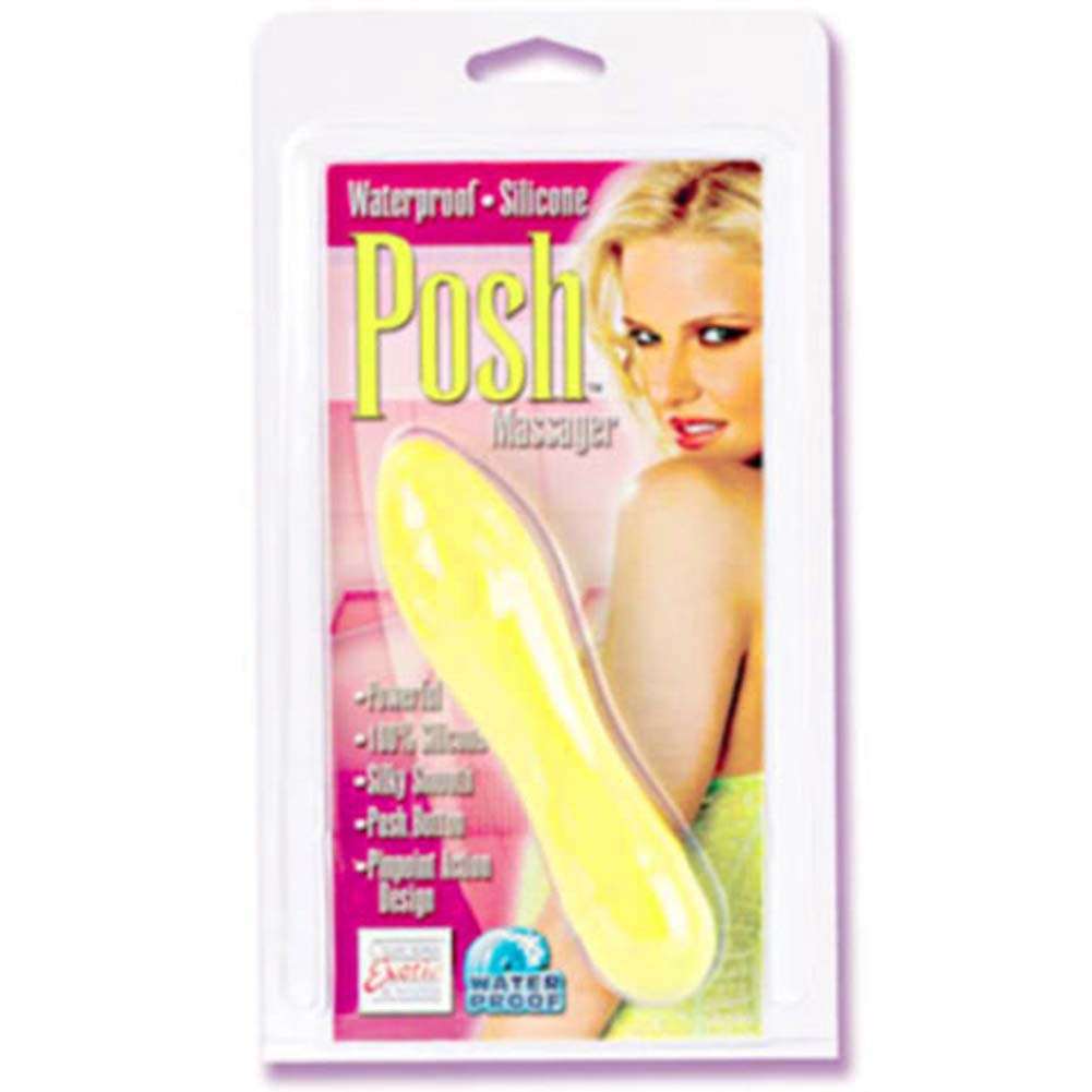 Posh Massager Waterproof Silicone Vibe Yellow 5.5 In. - View #1