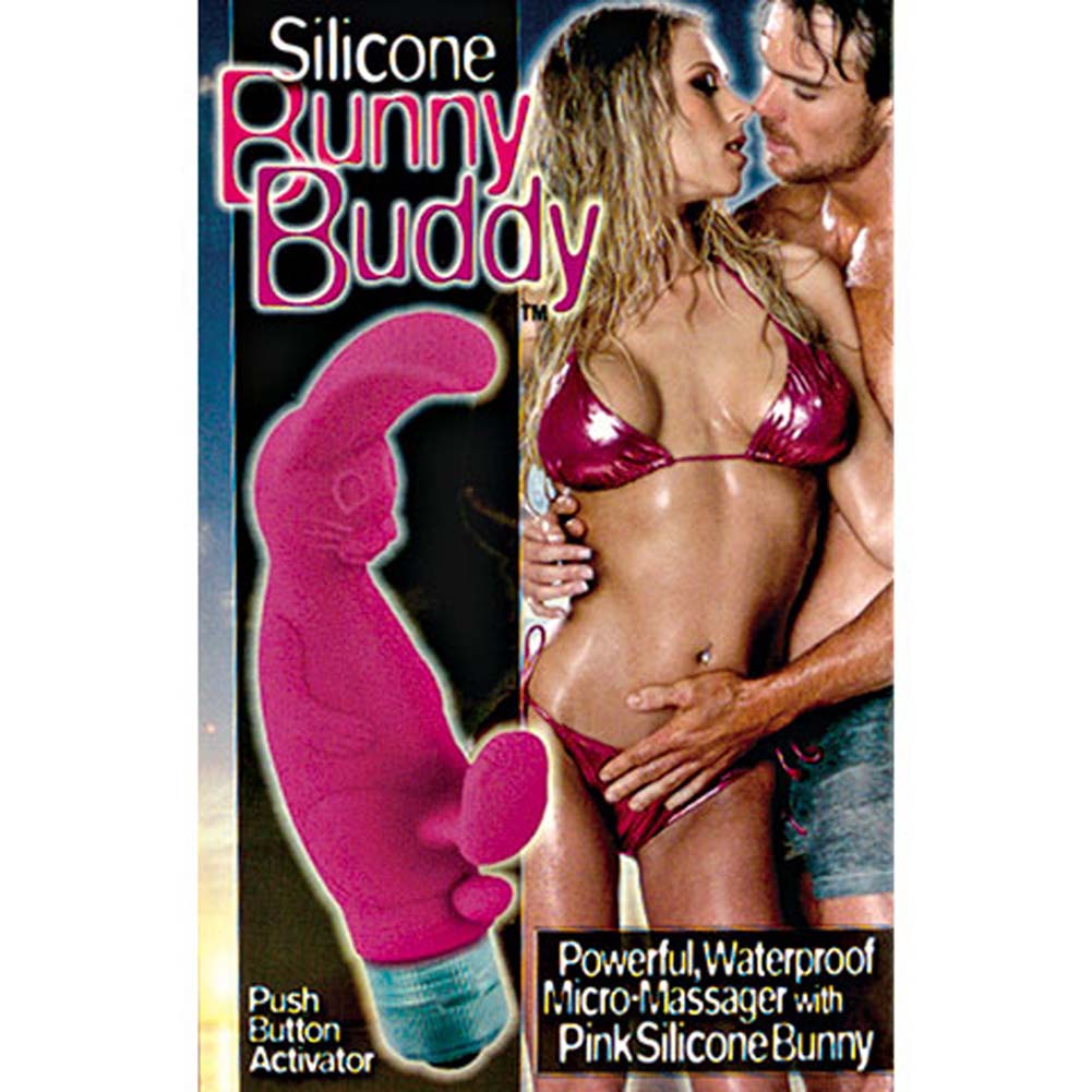 Silicone Bunny Buddy Waterproof Vibe Pink 5 in RbDV - View #4