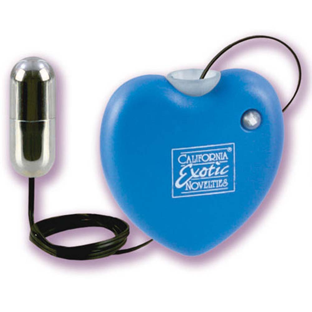 Retractable Heart Vibrating Massager Blue 1.75 In. - View #2