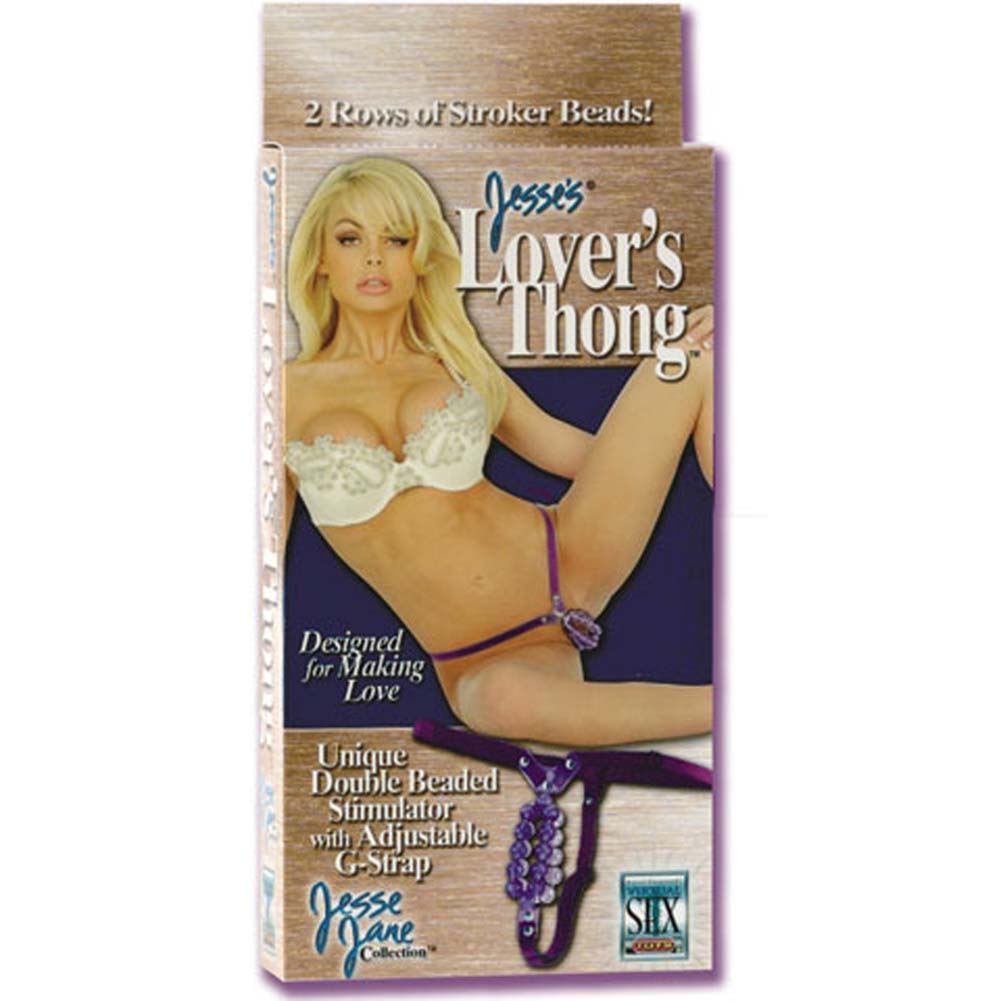 Jesses Lovers G-String with Beads Purple - View #4