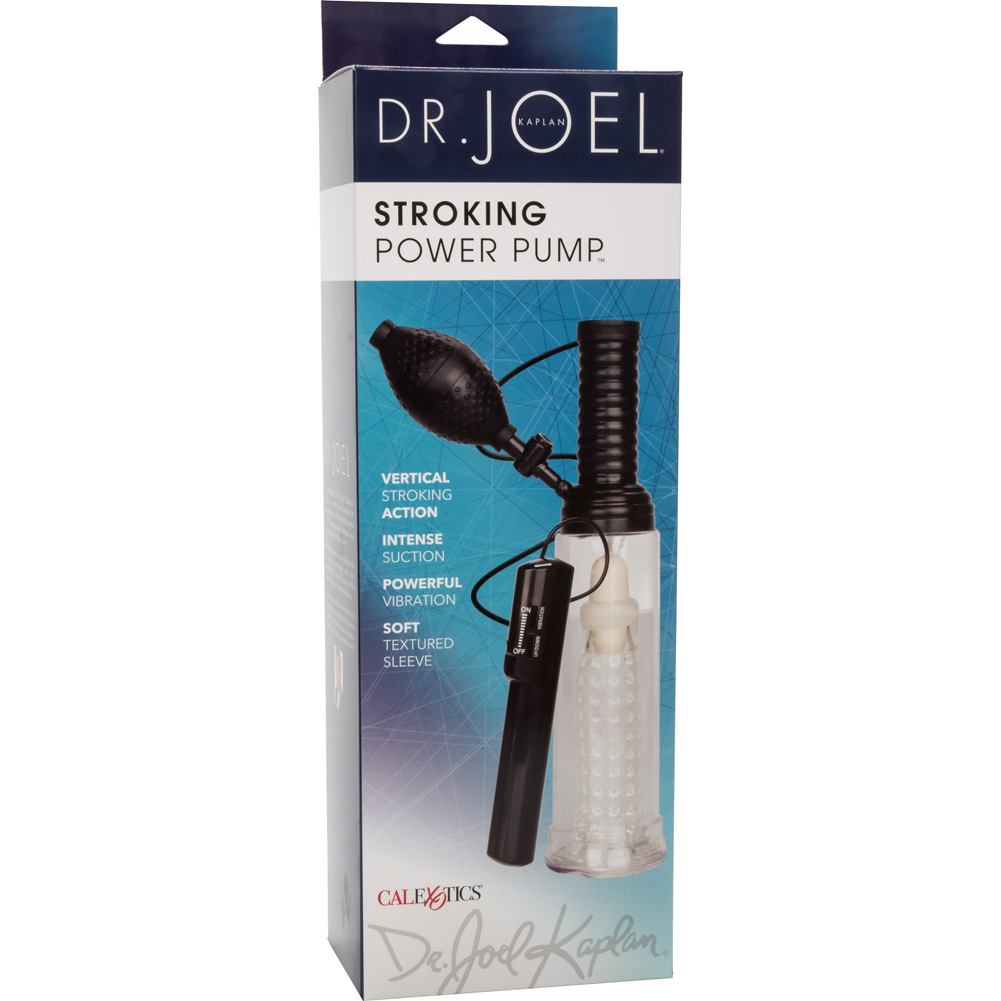 CalExotics Dr. Joel Kaplan Stroking Silicone Vibrating Power Pump Smoke - View #4