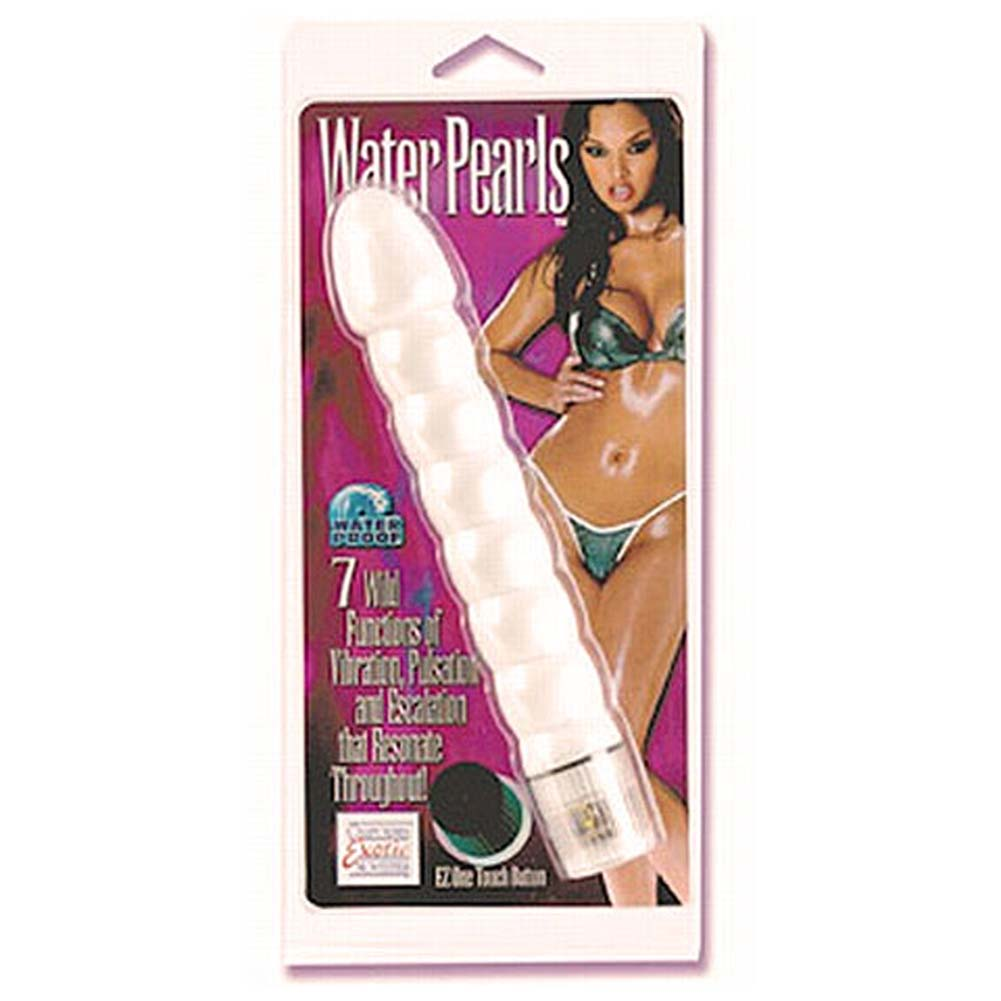 Water Pearls Waterproof Vibe White 8.25 In. - View #1